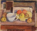 Still life with Yellow Plate 1928 - Janos Kmetty