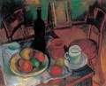 Still life with Table and Chairs - Janos Kmetty