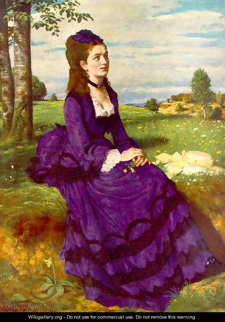 Lady in Violet 1874 - Pal Merse Szinyei