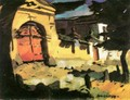 Gate at Felsobanya 1930 - Odon Marffy