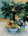 Still life with Apples and Flowers 1908 - Miksa Roth