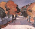 Street at Nagybanya 1907 - Tibor Duray