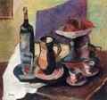 Still-life with Win Bottle - Louis Valtat