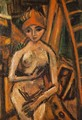 Nude with Red Turban 1926 - Auguste Herbin