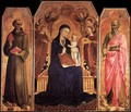 Virgin and Child with Saints 1437-44 - Stefano Di Giovanni Sassetta