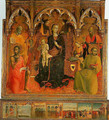 Madonna and Child Enthroned with Four Angels and SS John the Baptist Peter Francis and Paul - Stefano Di Giovanni Sassetta
