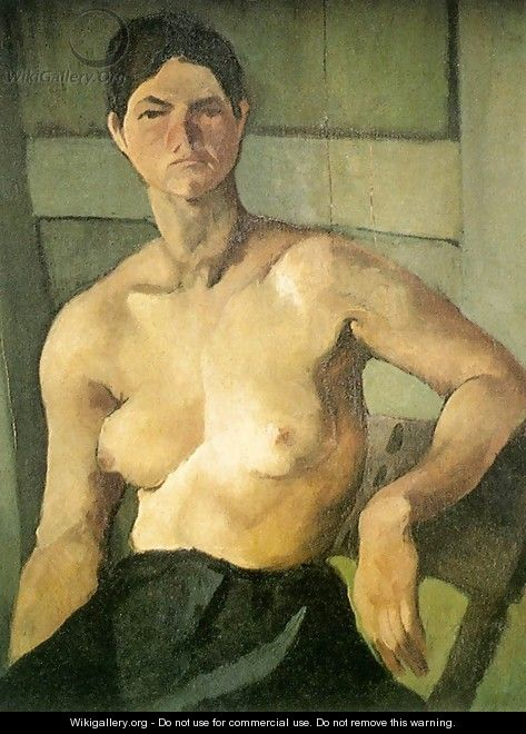 Modell seated 1915 - Geza Bene