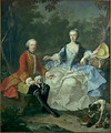 Count Giacomo Durazzo in the Guise of a Huntsman with His Wife probably early 1760s - Martin II Mytens or Meytens