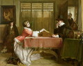The Banker's Private Room Negotiating a Loan 1870 - John Callcott Horsley