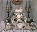 Still-life with China Clock 1910 - De Lorme and Ludolf De Jongh Anthonie