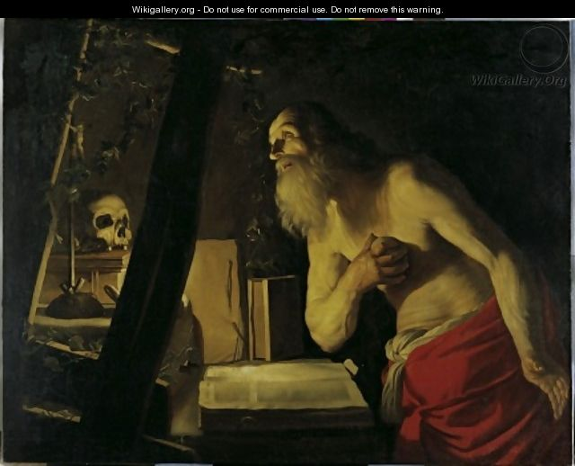 follower St Jerome - Gerrit Van Honthorst