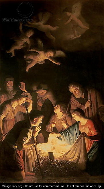 Adoration of the Shepherds 1617 - Gerrit Van Honthorst