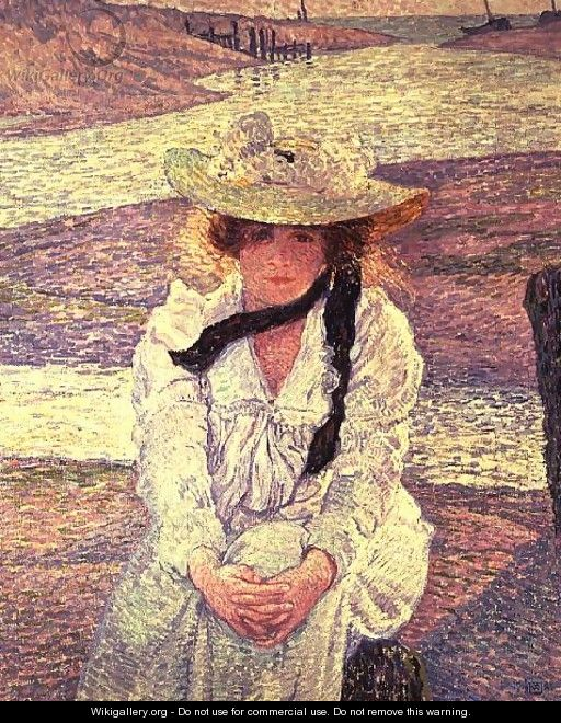 Young Woman on the Banks of the Greve River 1901 - Theo Van Rysselberghe