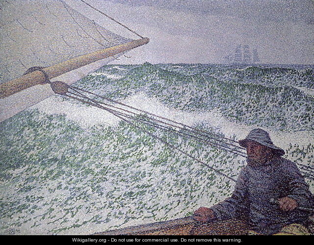 The Man at the Tiller 1892 - Theo Van Rysselberghe