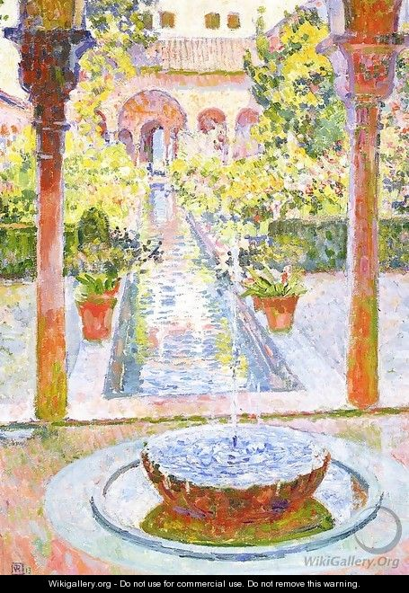 The Gardens of Generalife in Grenada 1913 - Theo Van Rysselberghe