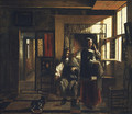 Interior with a Young Couple early 1660s - Pieter De Hooch