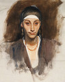 Egyptian Woman with Earrings - John Singer Sargent