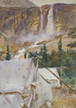 Camp and Waterfall 1916 - John Singer Sargent