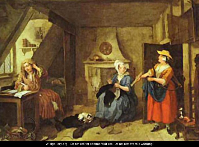 The distressed poet 1736 william hogarth wikigallery for William hogarth was noted for painting
