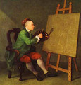Hogarth Painting The Comic Muse 1757 - William Hogarth