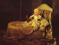 Gerard Anne Edwards In His Cradle 1733 - William Hogarth