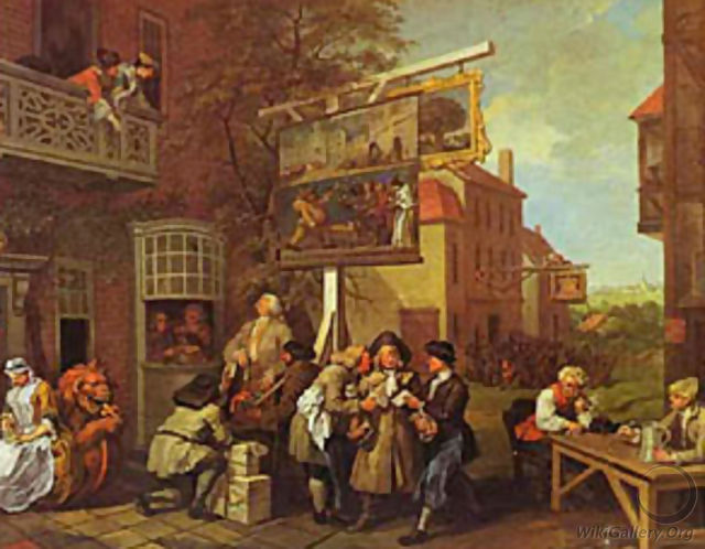 Canvassing For Votes 1755 - William Hogarth