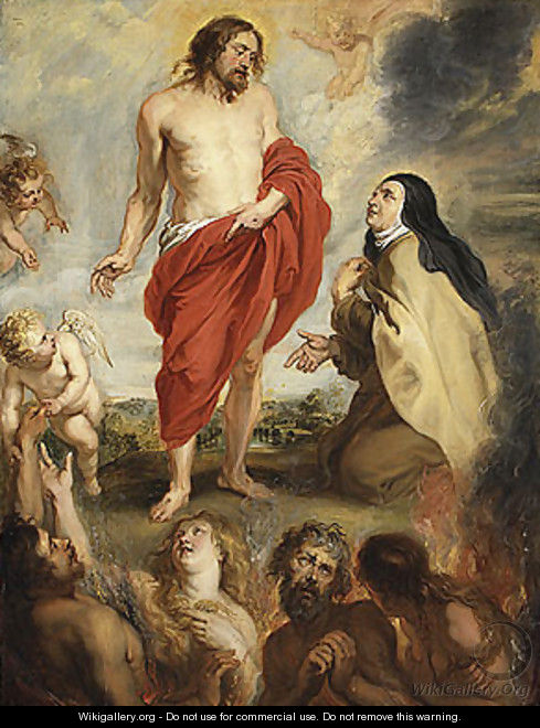 Saint Teresa of Interceding for Souls in Purgatory - Peter Paul Rubens