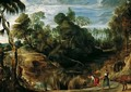 Landscape with Milkmaids and Cows 1616 - Peter Paul Rubens