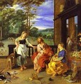 Jan Bruegel-The Younger And Peter Paul Rubens Christ In The House Of Martha And Mary 1628 2 - Peter Paul Rubens