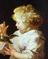 Infant With A Bird 1624-1625 - Peter Paul Rubens