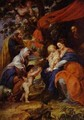 The St Ildefonso Altar (Outer Wings) The Holy Family Under The Apple Tree 1630-1632 - Peter Paul Rubens