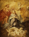 The Coronation of the Virgin sketch - Peter Paul Rubens