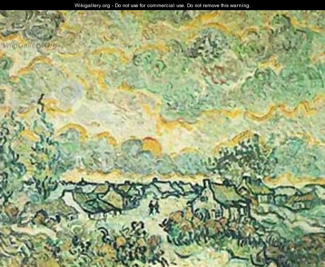 Cottages And Cypresses Reminiscence Of The North 1890 - Vincent Van Gogh
