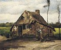 Cottage With Peasant Coming Home 1885 - Vincent Van Gogh
