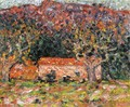 A House under the Olive Trees in Agay 1898 - Leon De Smet