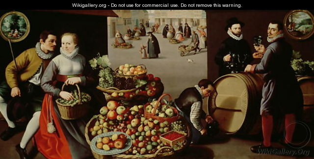 Fruit Market - Lucas Van Valkenborch