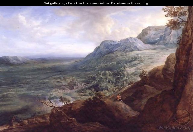 The Escorial from a Foothill of the Guadarrama Mountains - Lucas Van Uden