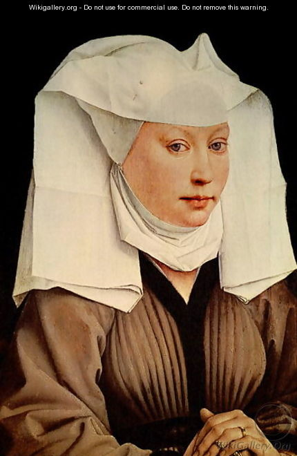 Portrait of a Young Woman in a Pinned Hat 1435 - Rogier van der Weyden