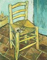 Vincents Chair With His Pipe 1888 - Vincent Van Gogh
