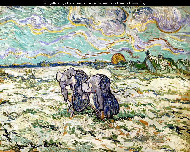The Weeders (after Millet) - Vincent Van Gogh