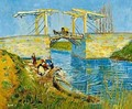 The Langlois Bridge With Women Washing 1888 - Vincent Van Gogh