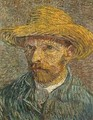Self Portrait With Straw Hat 1 1888 - Vincent Van Gogh