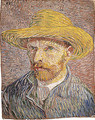 Self portrait with a Straw Hat (verso The Potato Peeler) probably 1887 - Vincent Van Gogh