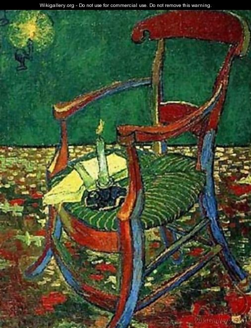 Paul Gauguins Armchair 1888 - Vincent Van Gogh