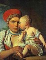 Wet Nurse With A Child 1830 - Aleksei Gavrilovich Venetsianov