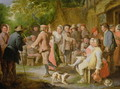 A Country Fete with Figures Dancing - Pieter Angellis