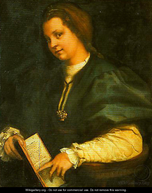 Portrait of a Girl (Lady with a Book of Petrarch) - Andrea Del Sarto