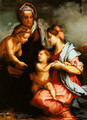 Madonna and Child with SS Elizabeth and the Young John (The Medici Holy Family) - Andrea Del Sarto