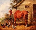 Outside the stable - Henry Alken