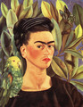 Self Portrait With Bonito 1941 - Frida Kahlo